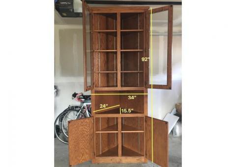 Tall corner armoire